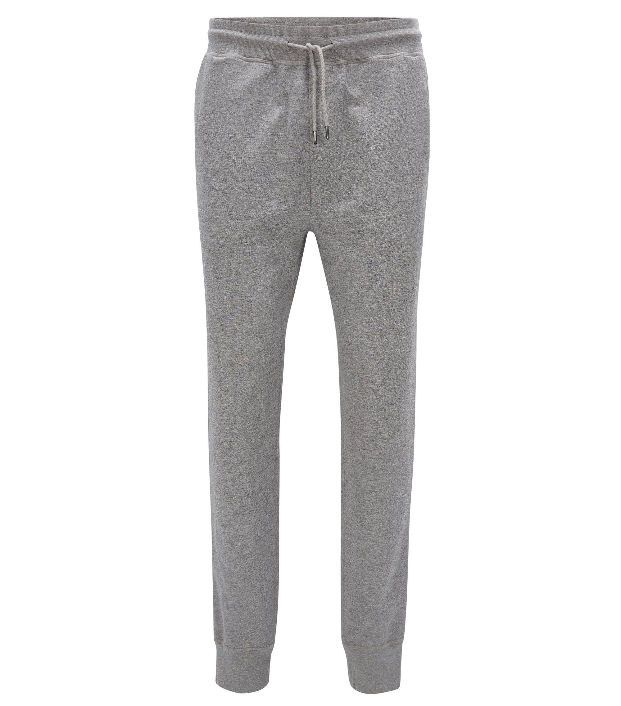 Regular-fit, casual broek van zachte jersey, Lichtgrijs
