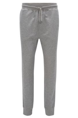 Pantalon casual Regular Fit en doux jersey, Gris chiné
