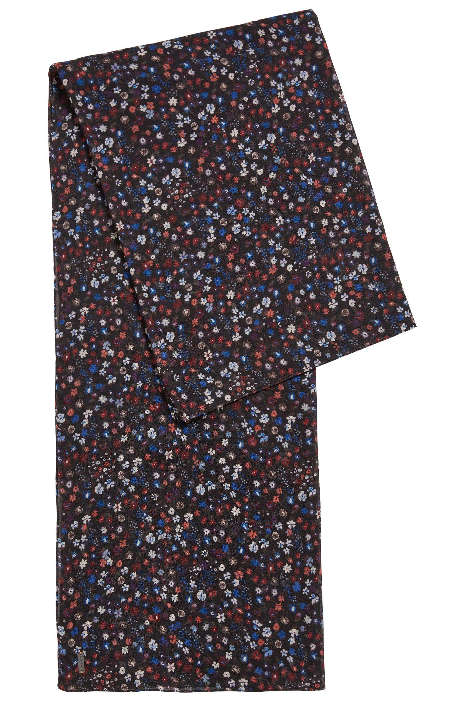 Sjaal van een katoenmix met bloemenprint