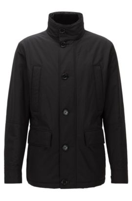 Relaxed-fit water-repellent jacket, Schwarz