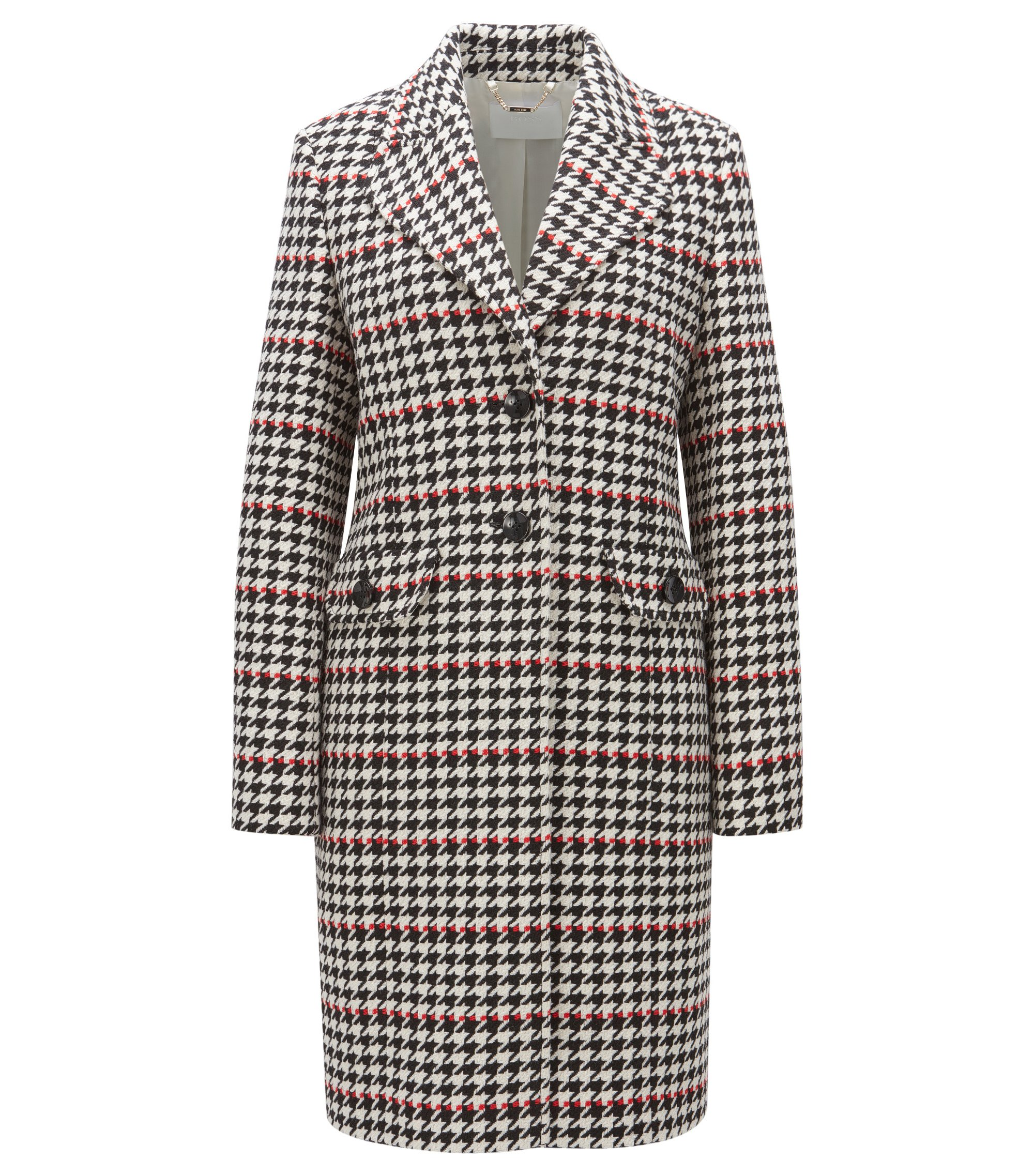 Houndstooth coat in a regular fit, Patterned