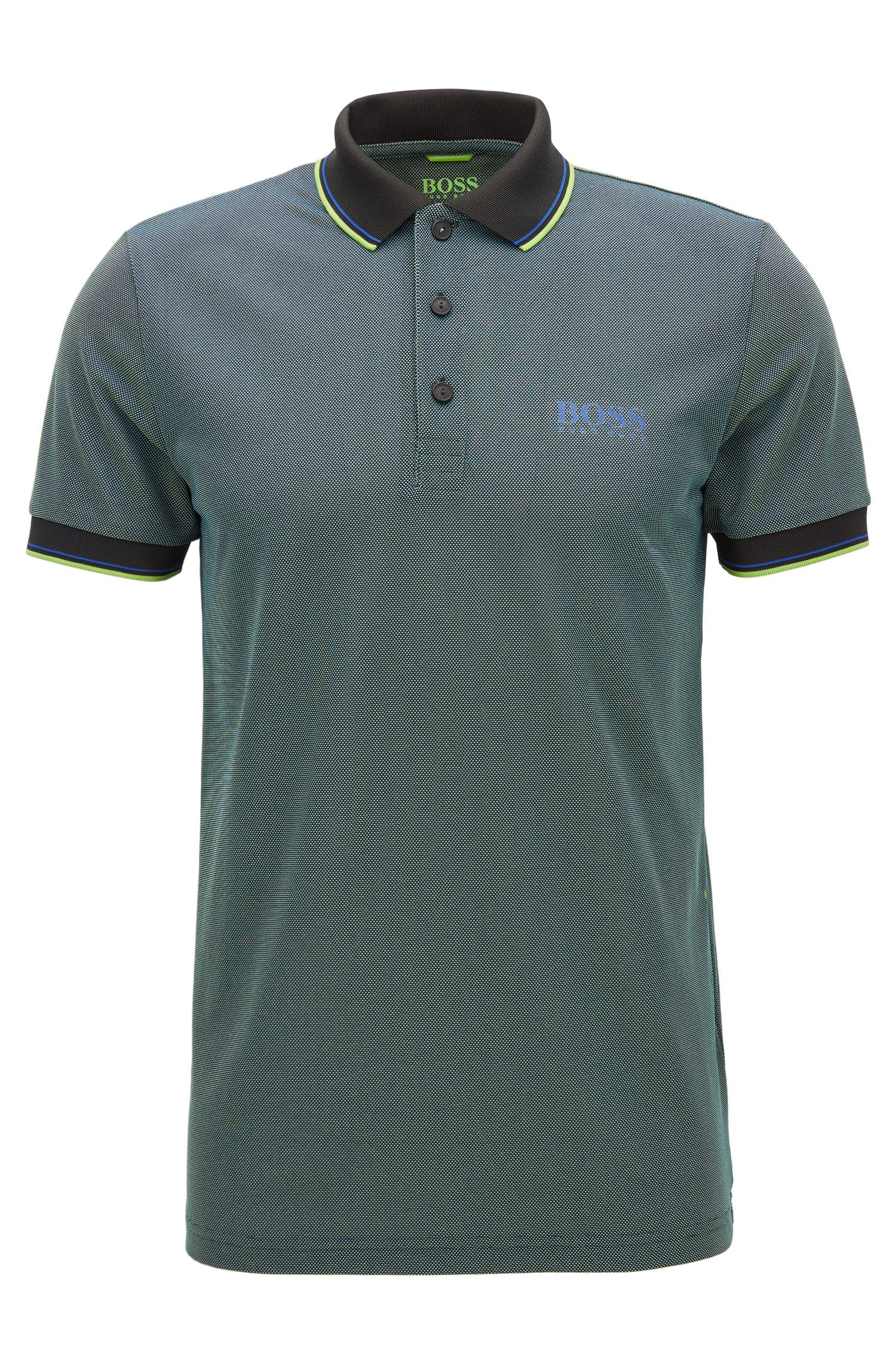 Polo slim fit en tejido transpirable