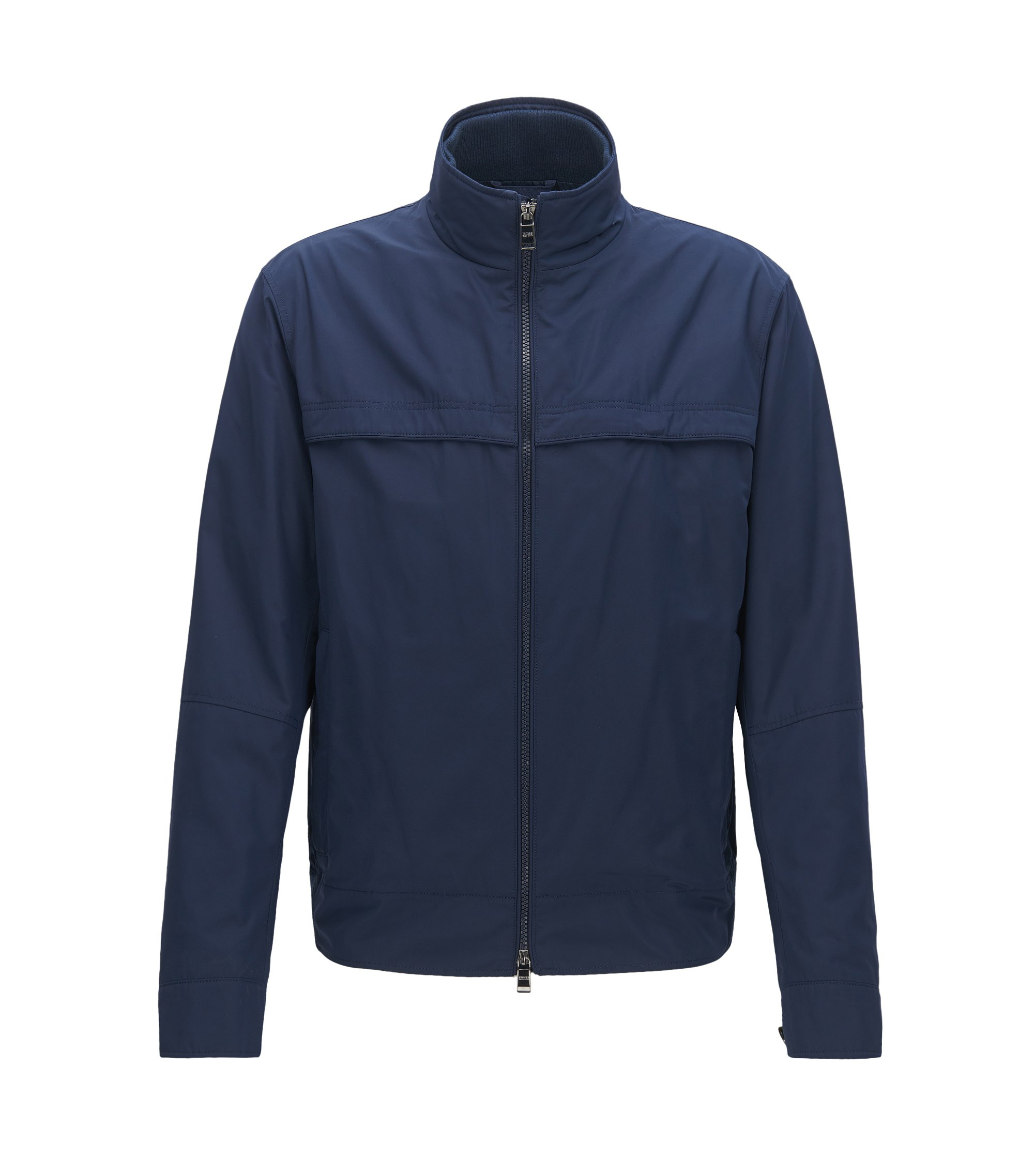 Relaxed-fit jacket in water-repellent fabric, Dark Blue