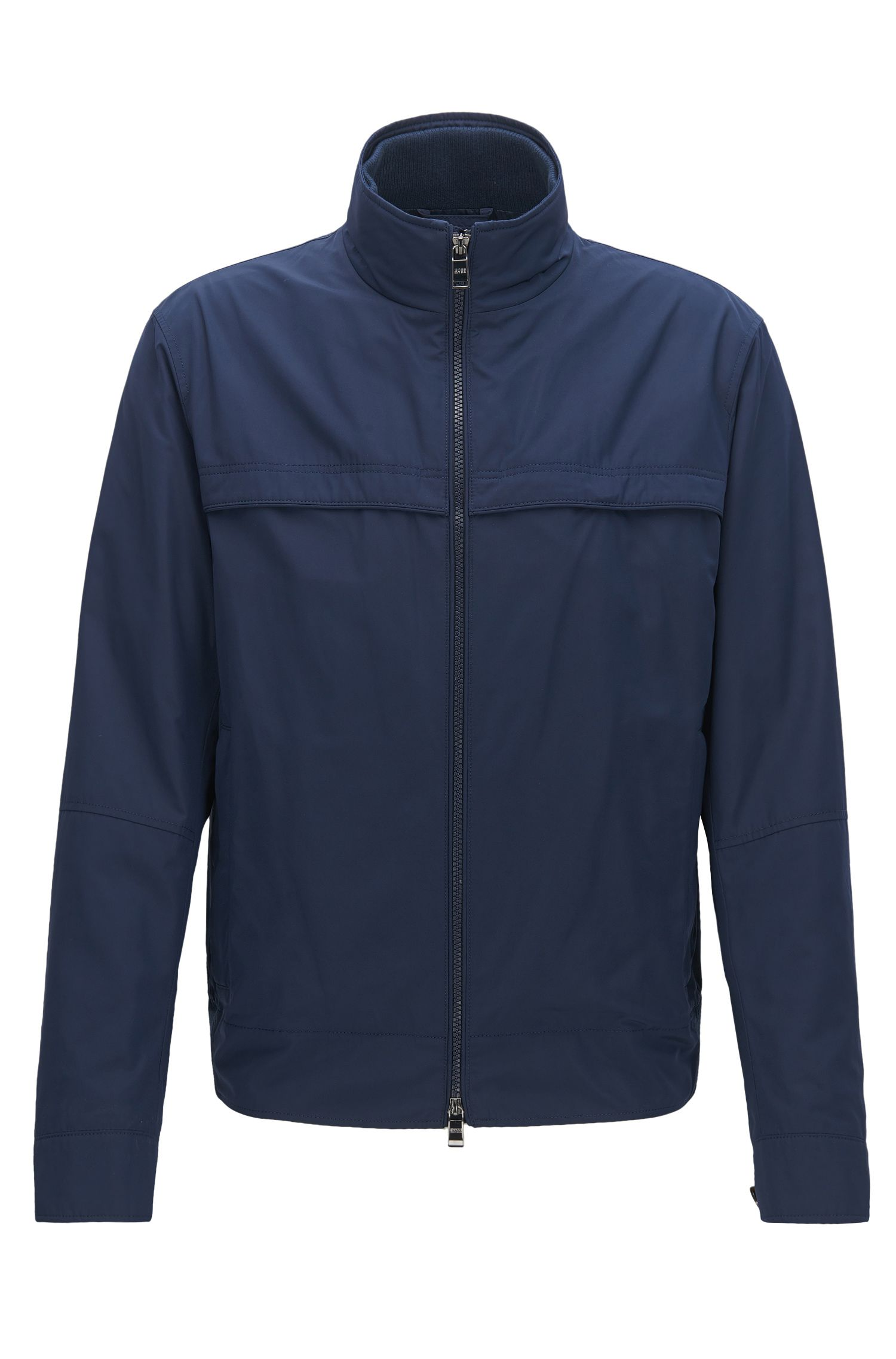 Relaxed-fit jacket in water-repellent fabric