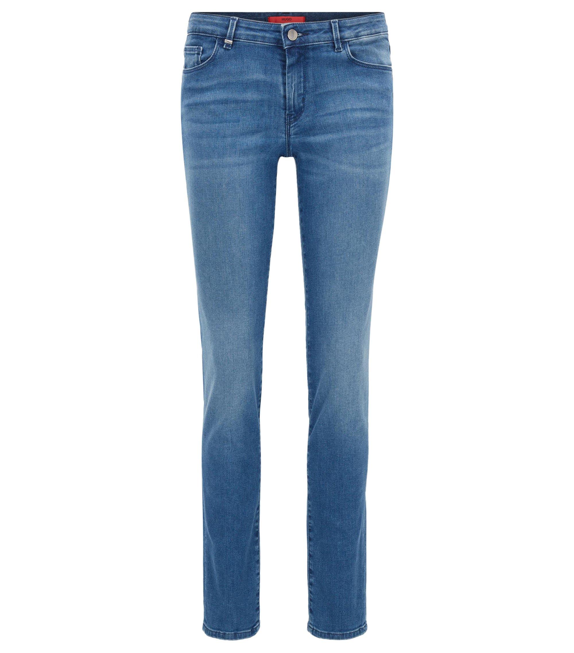 Regular-fit jeans van stretchdenim, Blauw