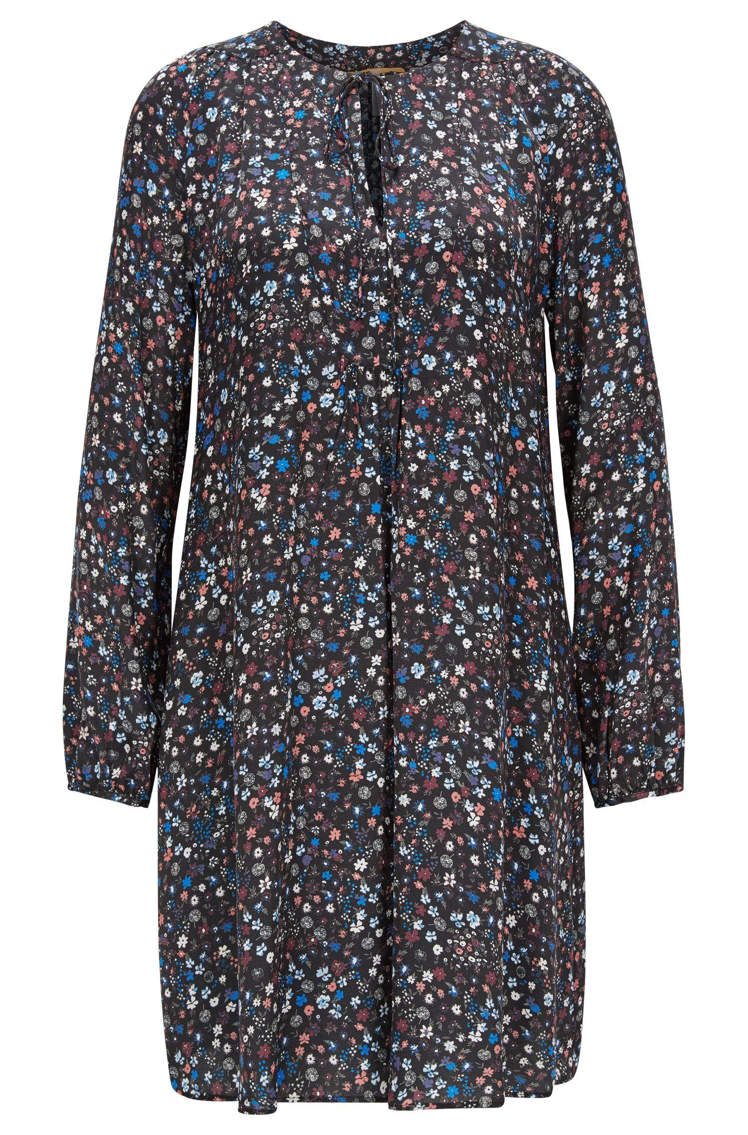 Vestido túnica en tejido estampado