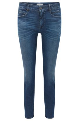 Jeans regular fit in denim tendente al rosso, Blu