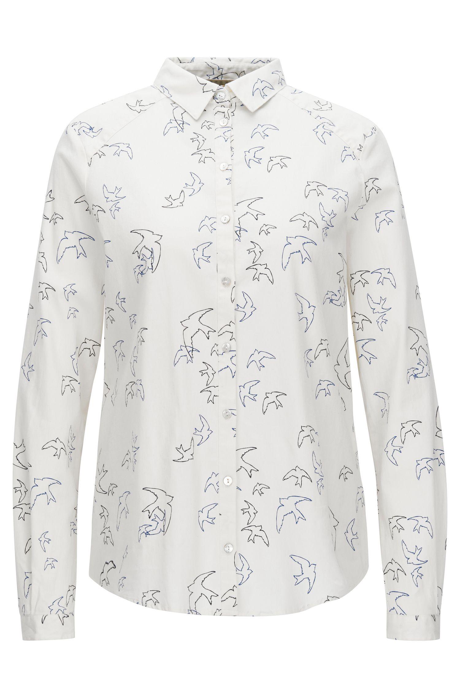 Blusa regular fit en algodón elástico