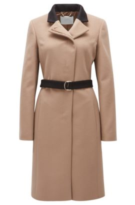 Manteau Regular Fit en laine vierge, Beige clair