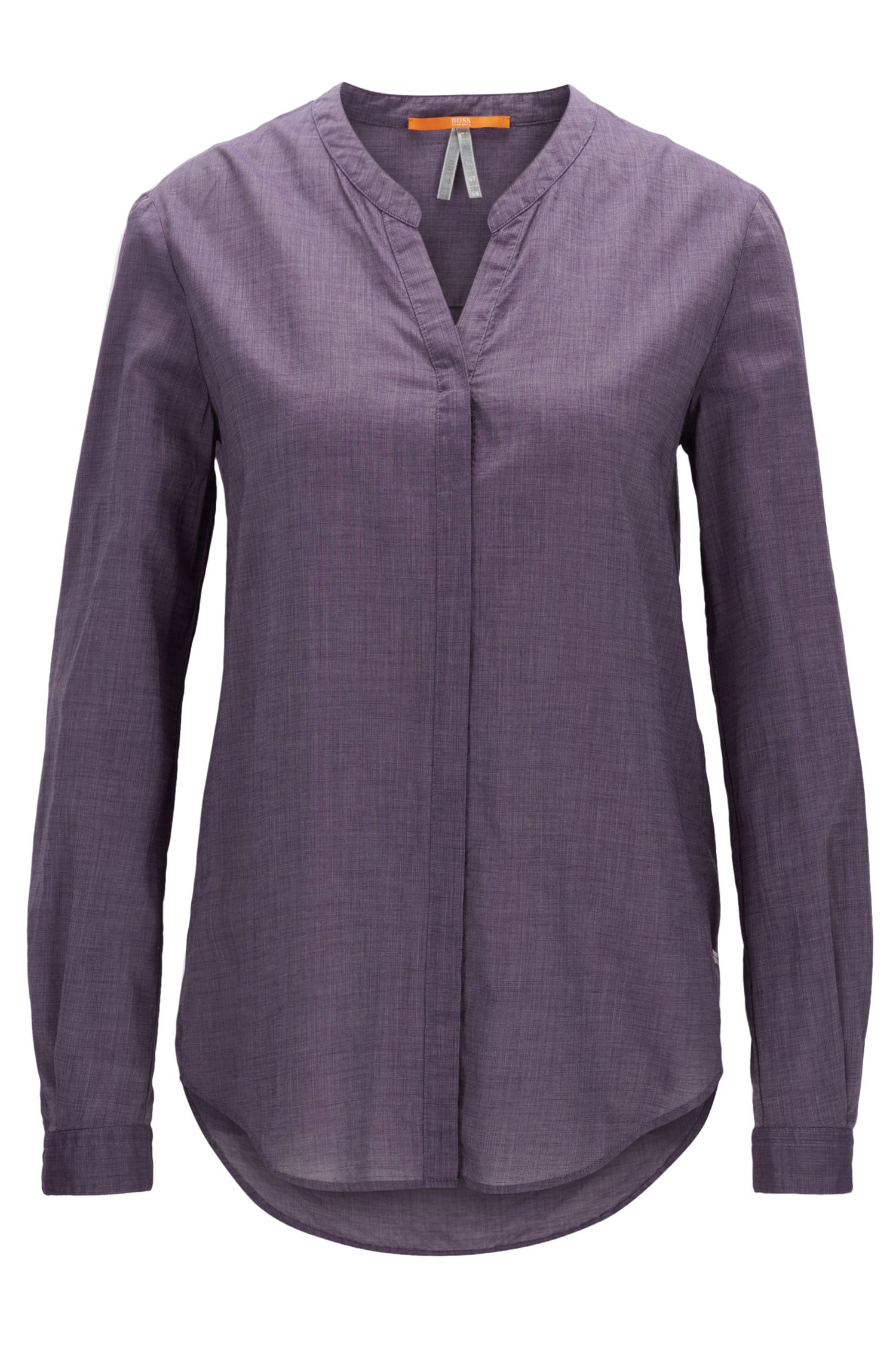 Relaxed-Fit Bluse aus leichtem Baumwoll-Mix