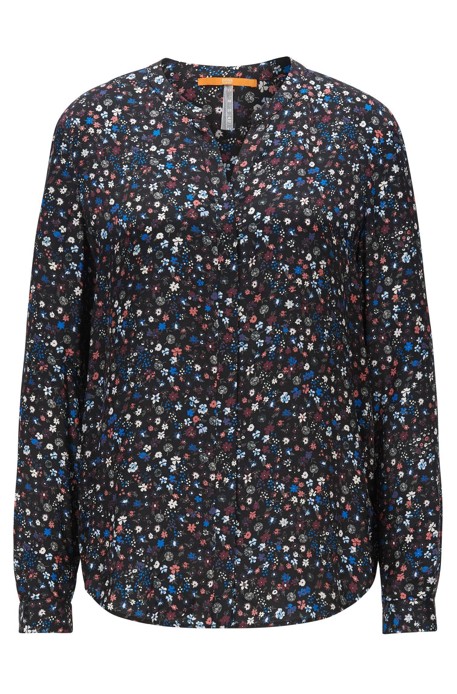 Relaxed-fit blouse van vloeiend materiaal