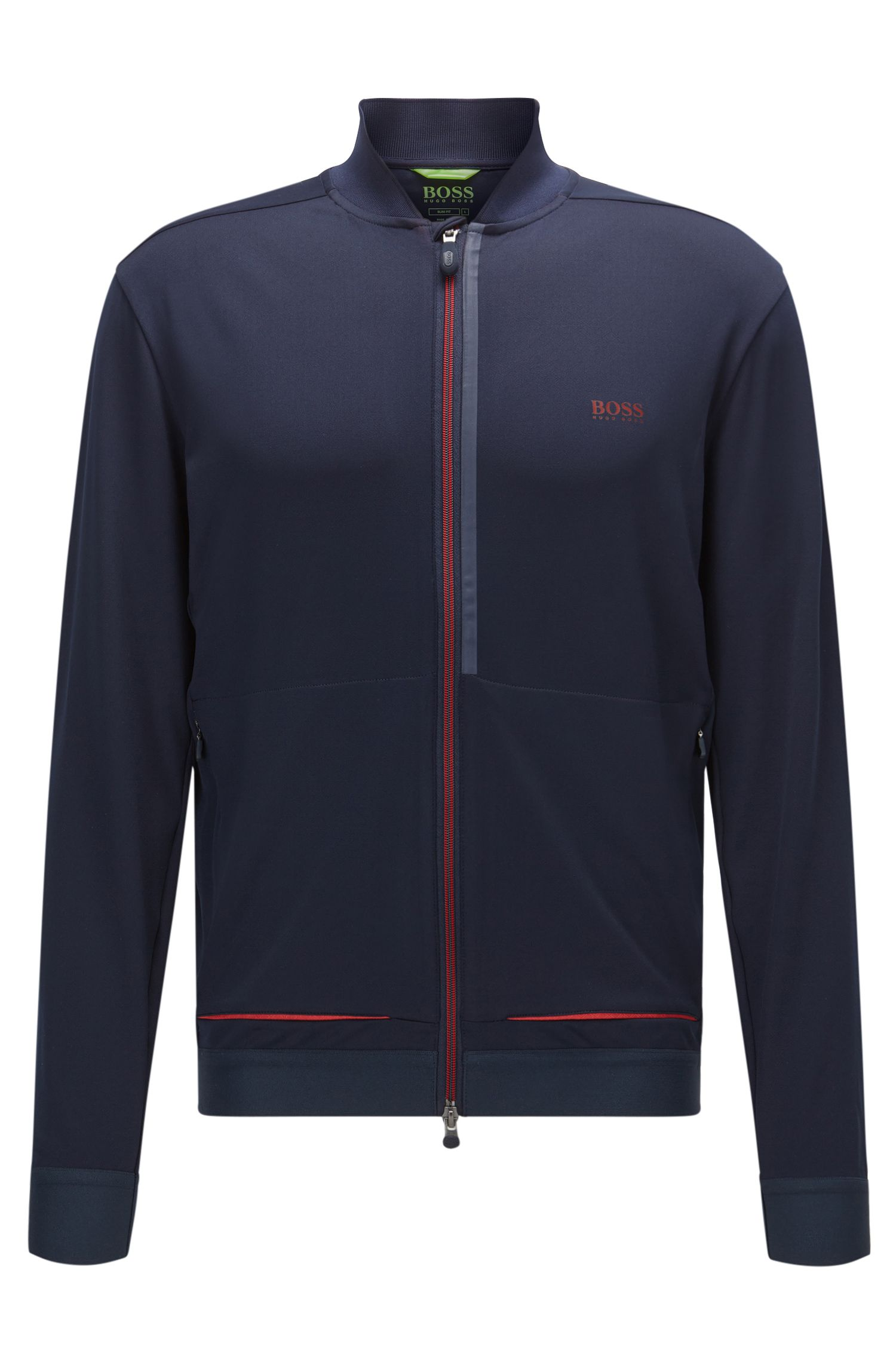 Slim-fit jacket in technical stretch