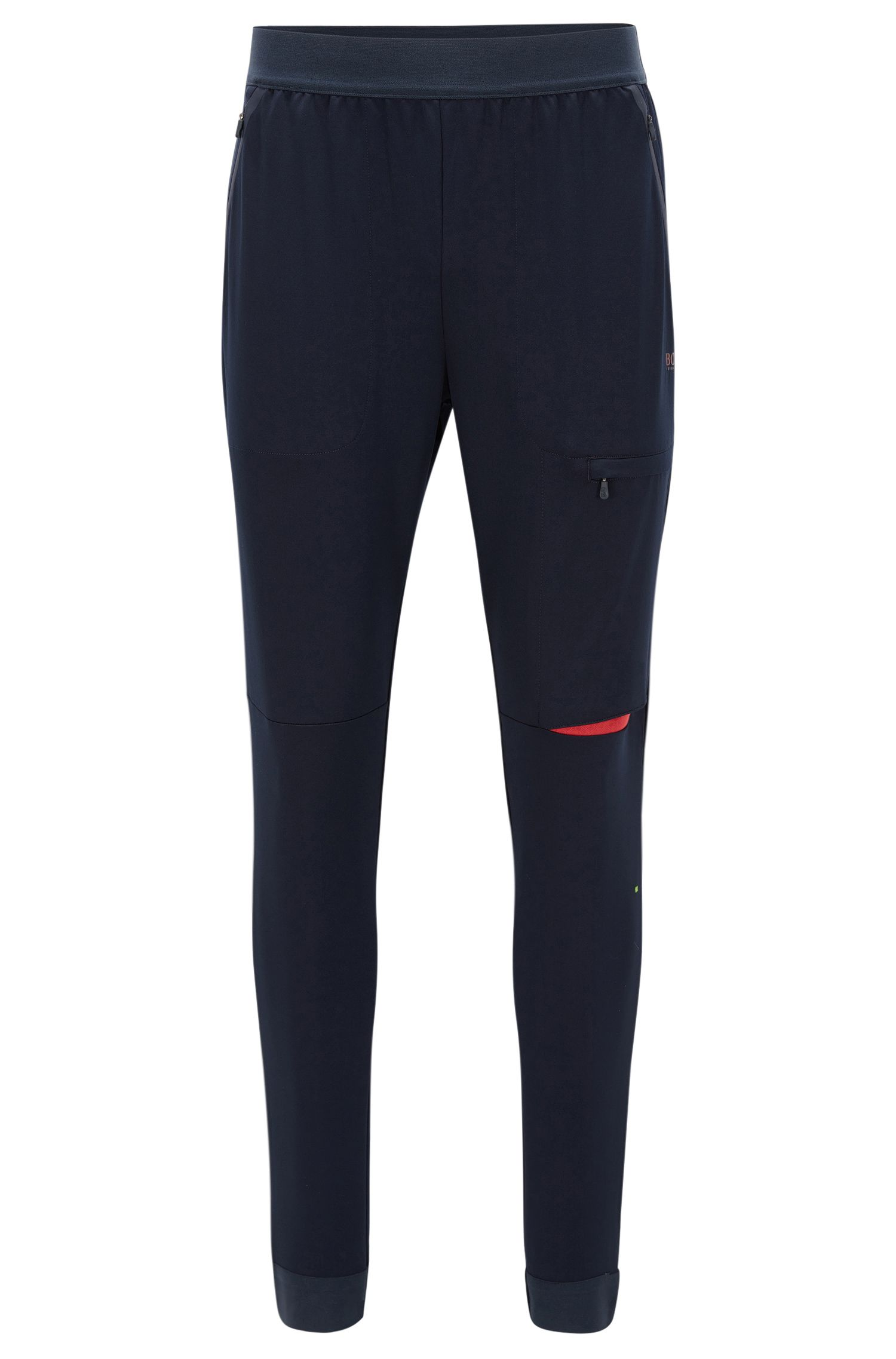 Slim-fit trousers in technical stretch fabric