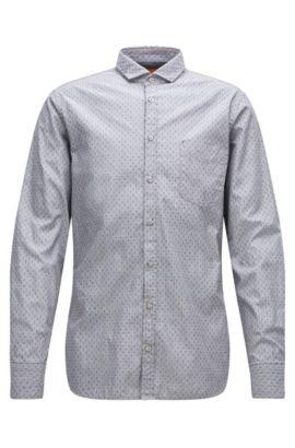 Chemise Slim Fit en coton fil-à-fil, Gris