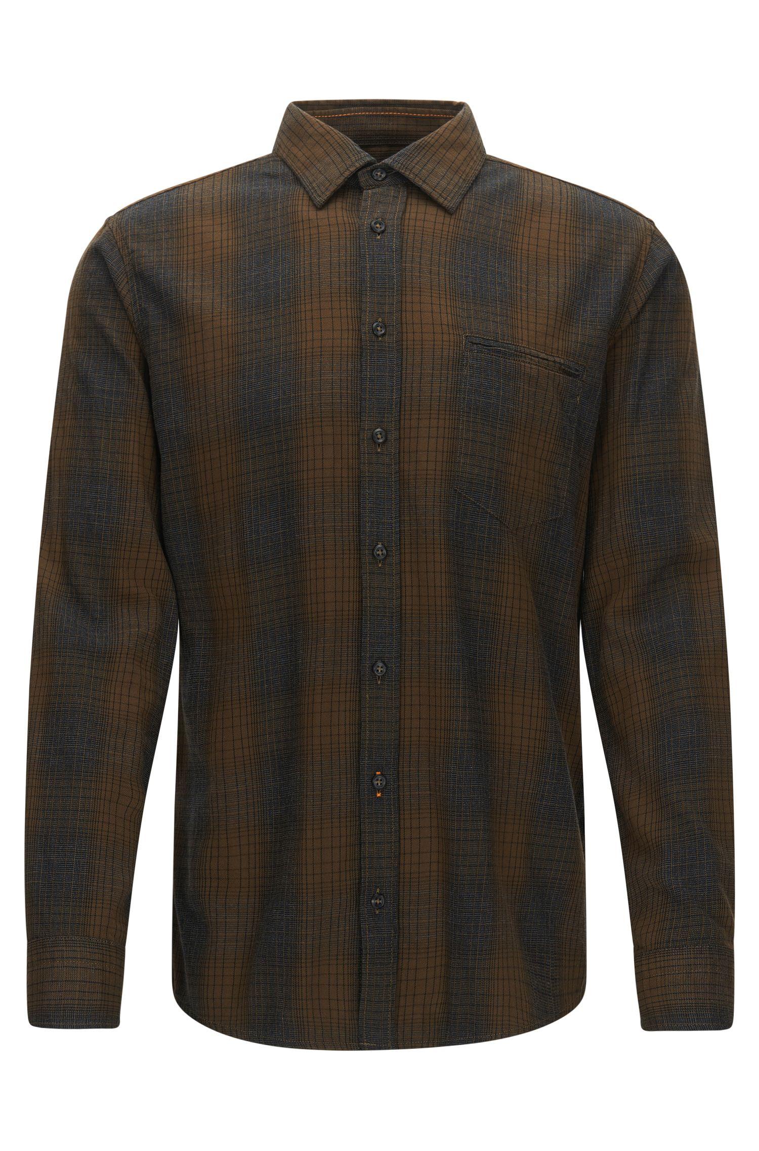 Regular-fit overhemd van een katoenmix
