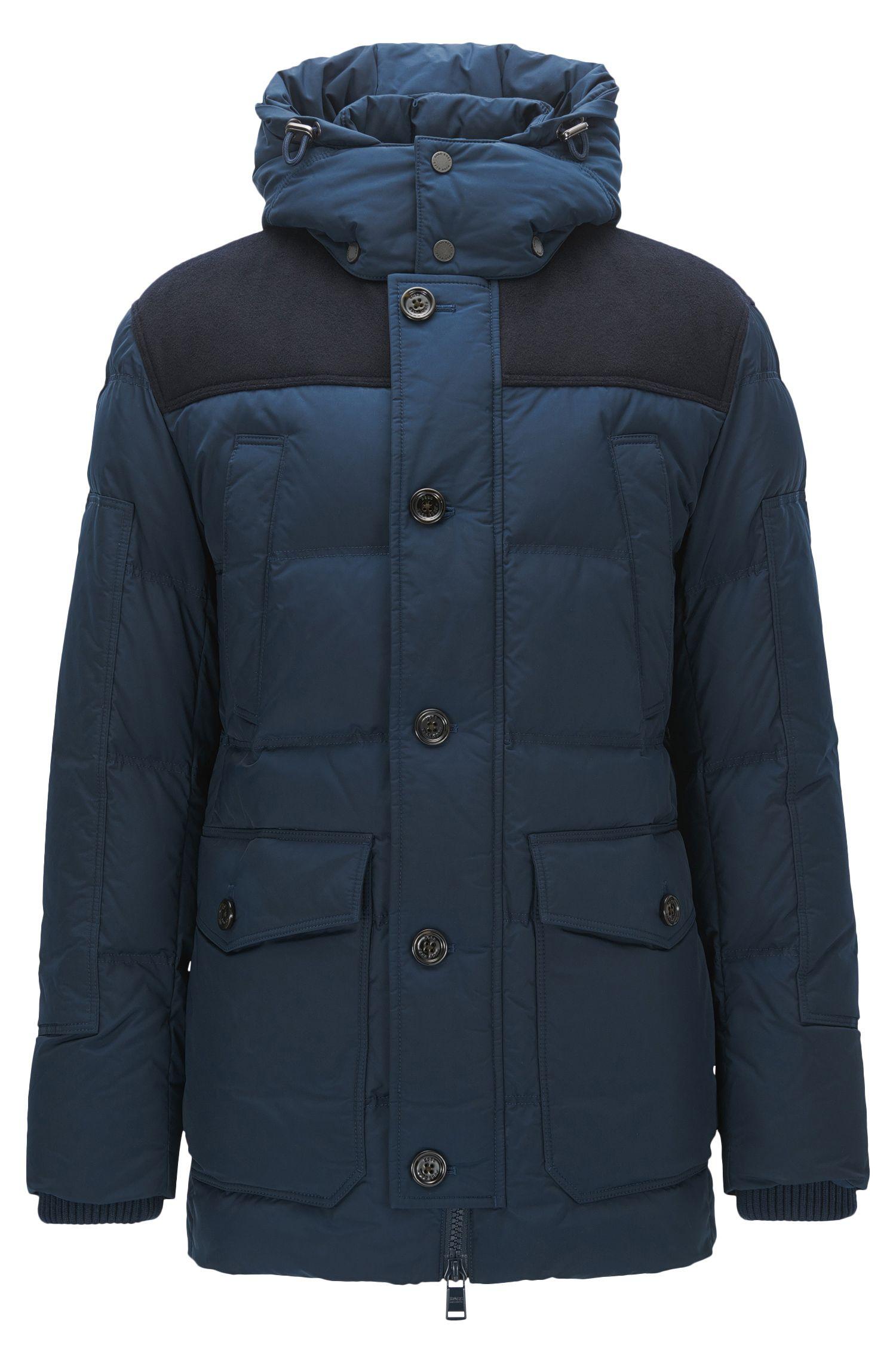 Relaxed-fit jas van technisch materiaal met vulling