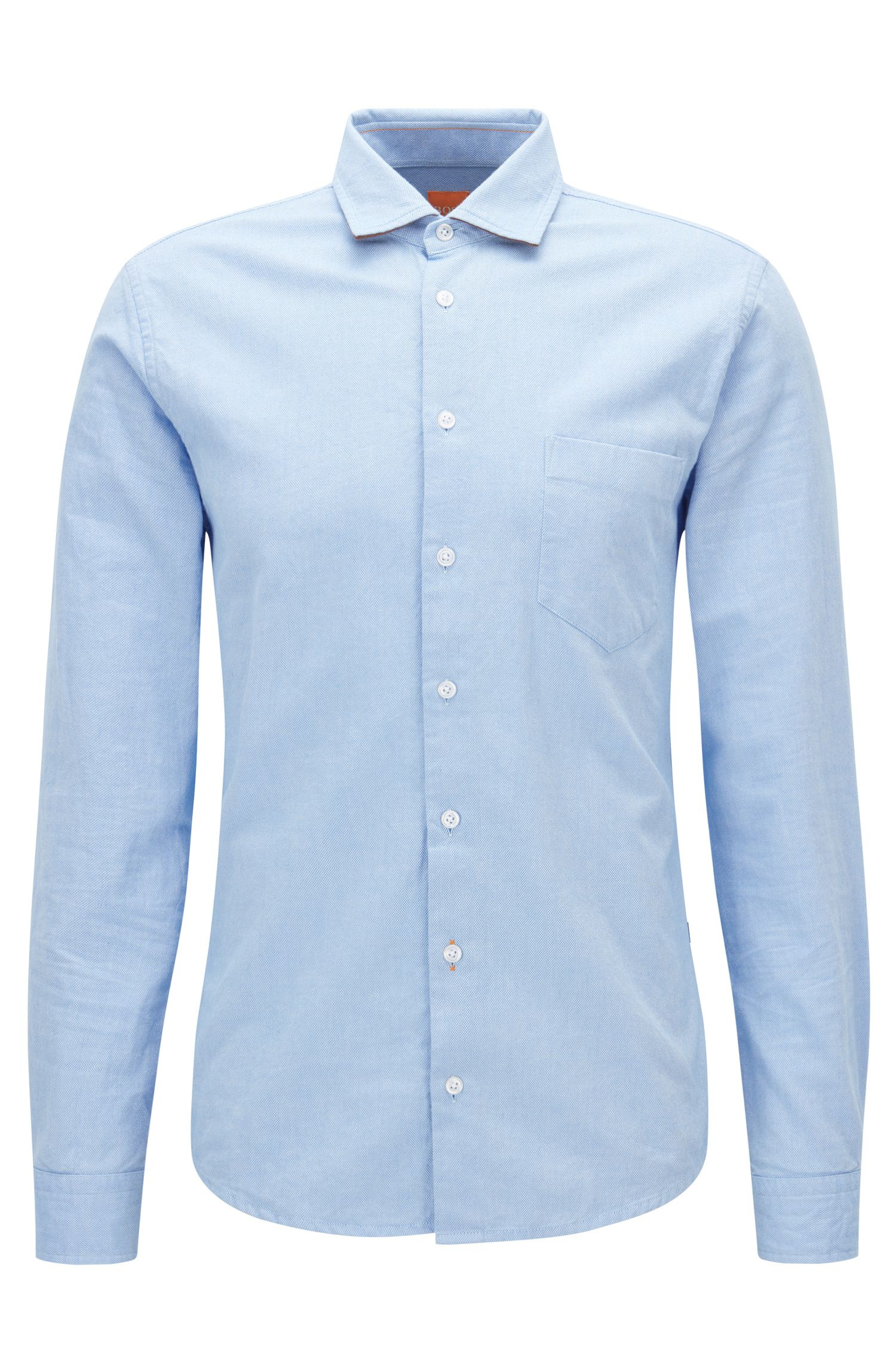 Chemise Slim Fit en coton Royal Oxford brossé