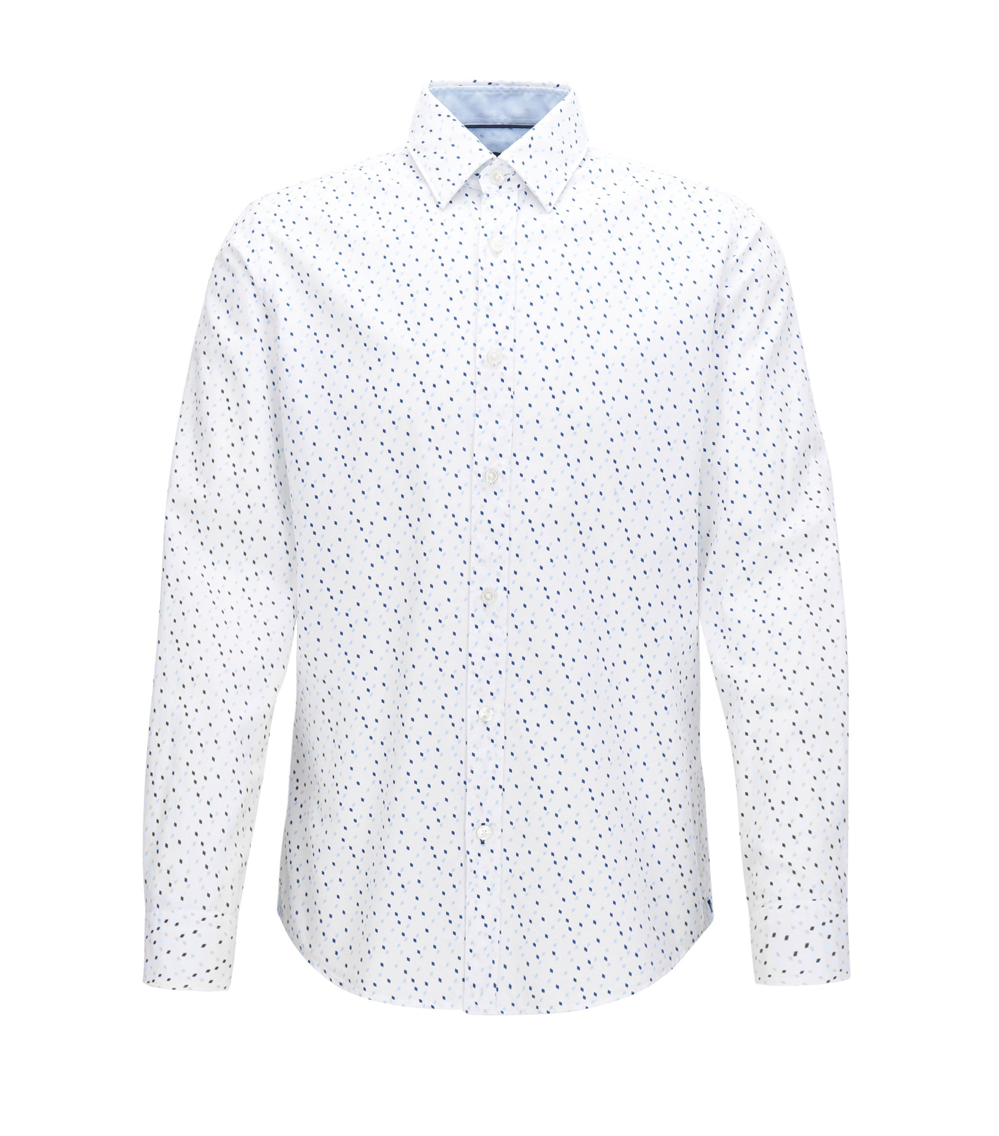 Regular-fit overhemd van katoen met argyleprint, Bedrukt