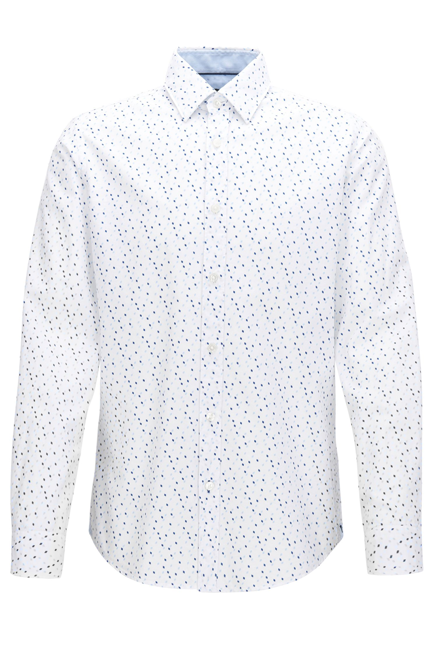 Regular-fit overhemd van katoen met argyleprint