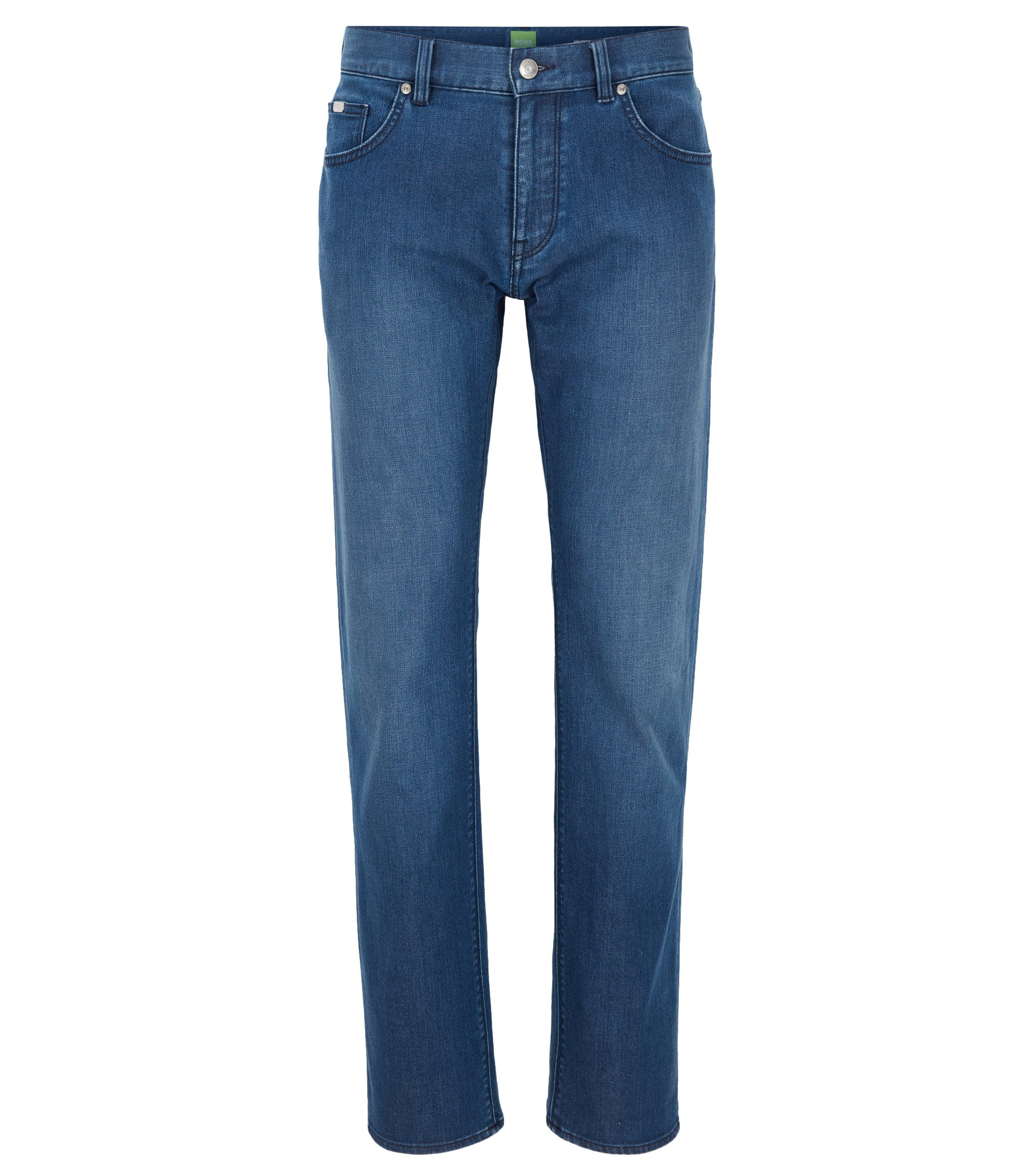 Regular-fit jeans van comfortabele stretchdenim, Blauw