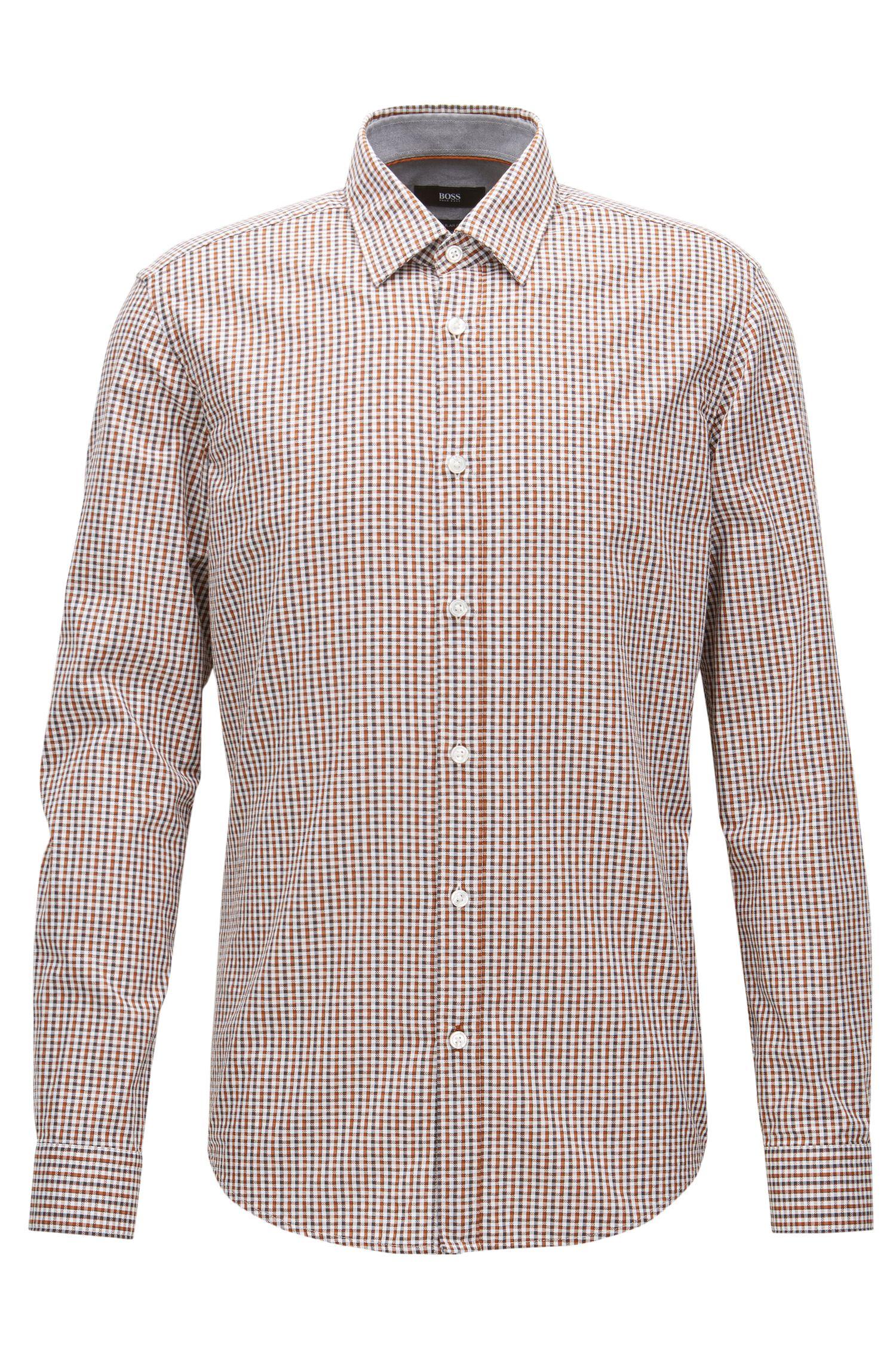 Regular-Fit-Hemd aus Baumwolle mit Vichy-Karo