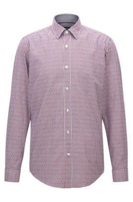 Camicia regular fit in cotone a quadri Vichy, A disegni