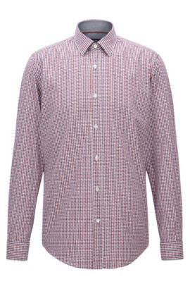 Camicia regular fit in cotone a quadri Vichy, A disegni