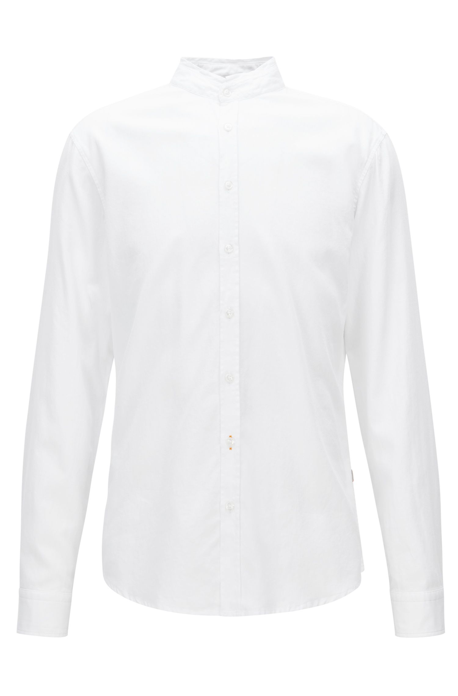 Chemise Regular Fit en coton Oxford à col montant