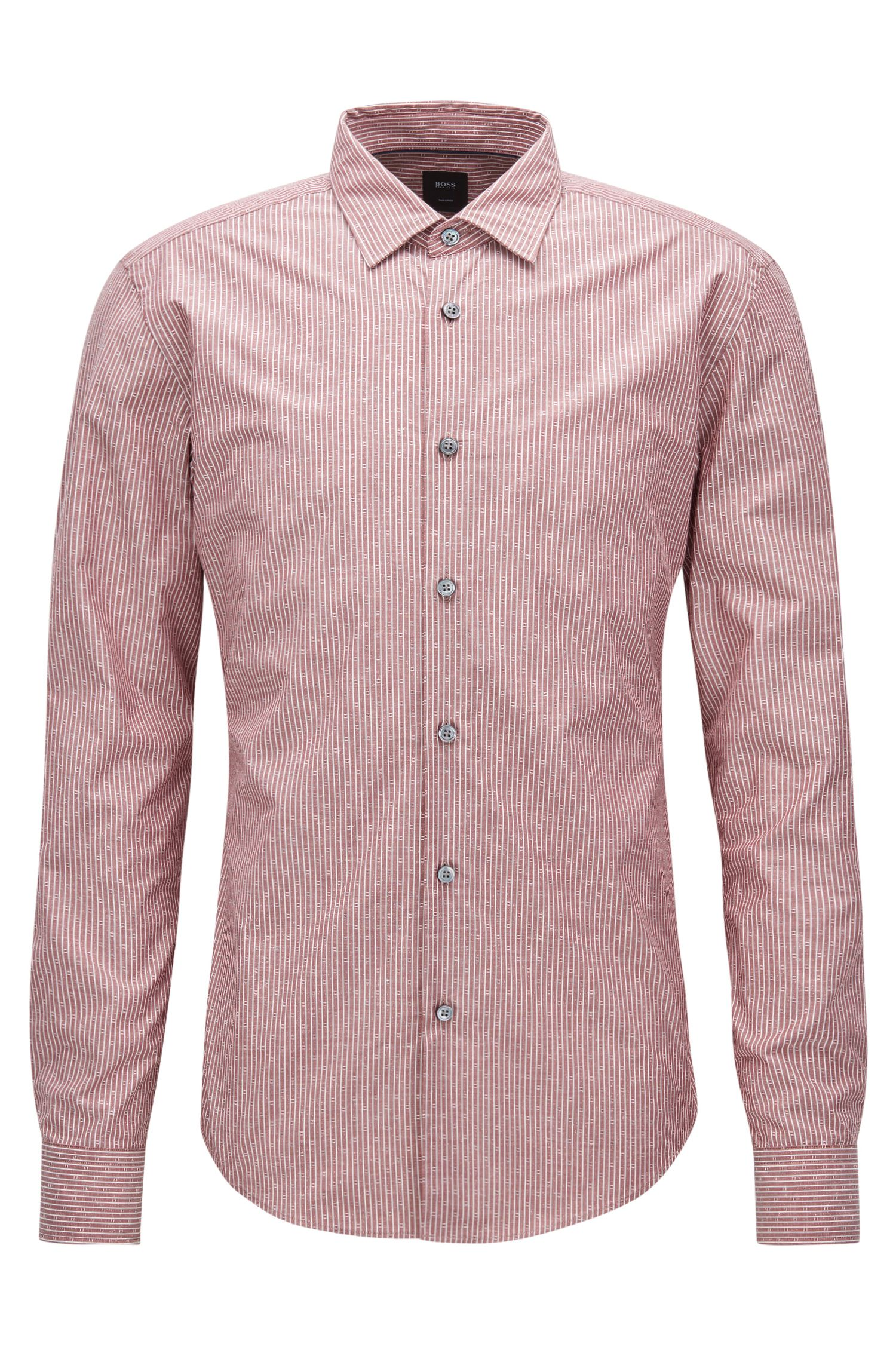 Camisa slim fit en mezcla de algodón