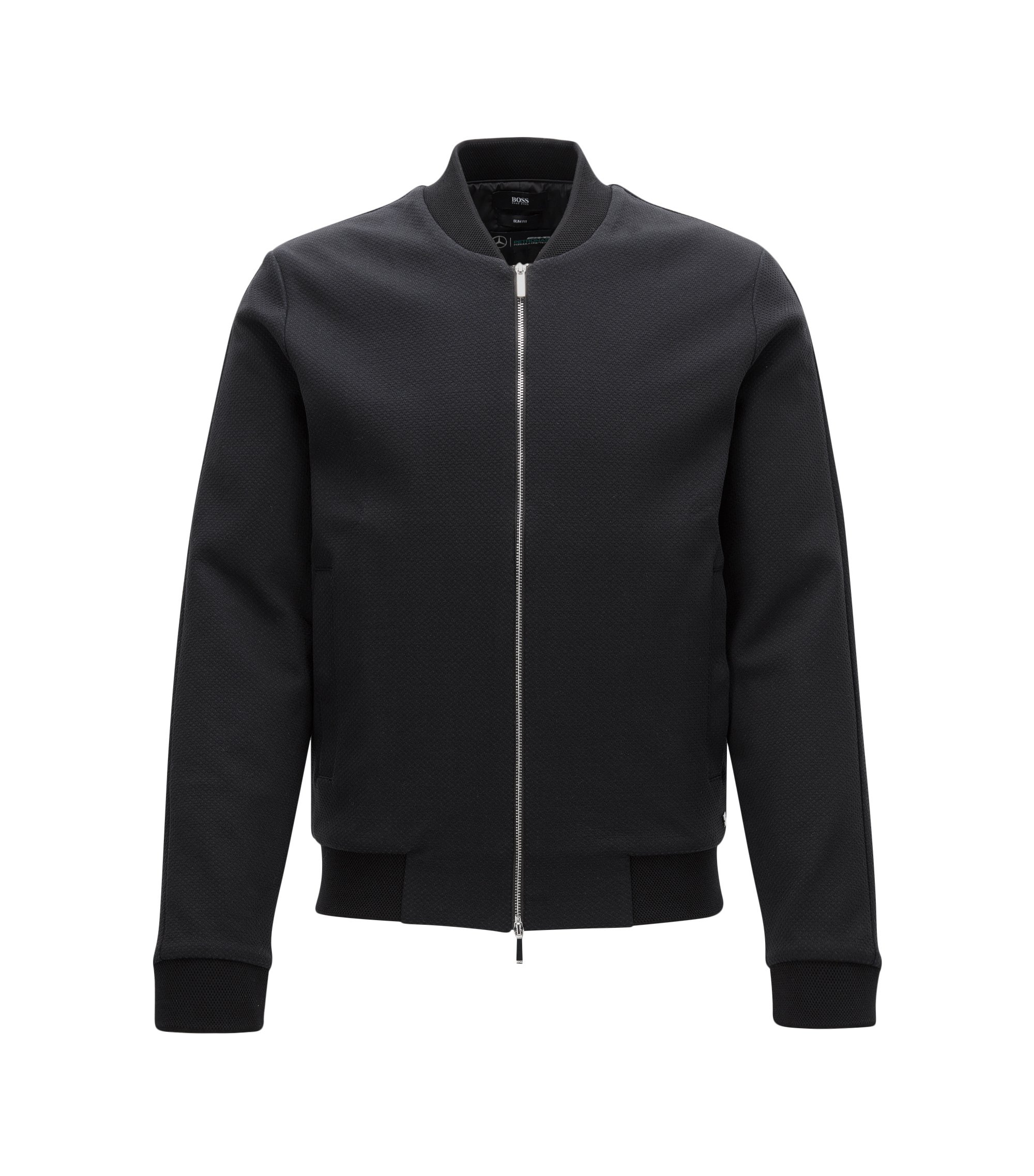Slim-fit Mercedes-Benz jacket in cotton, Black