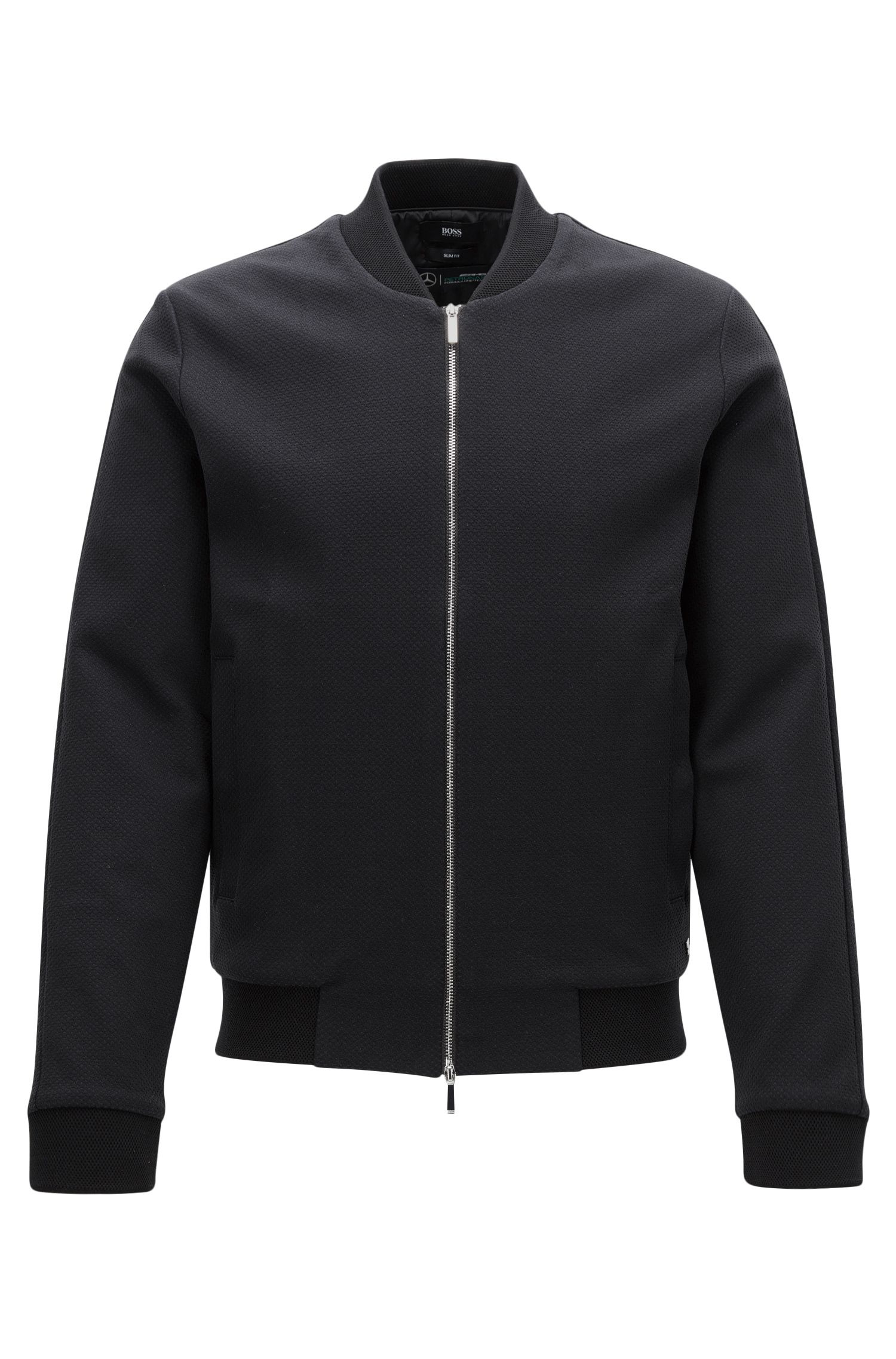 Slim-fit Mercedes-Benz jacket in cotton