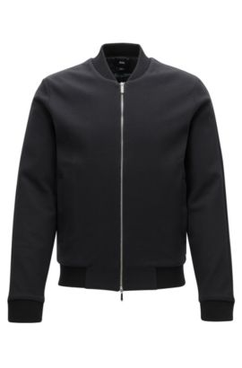 Veste Mercedes-Benz Slim Fit en coton, Noir