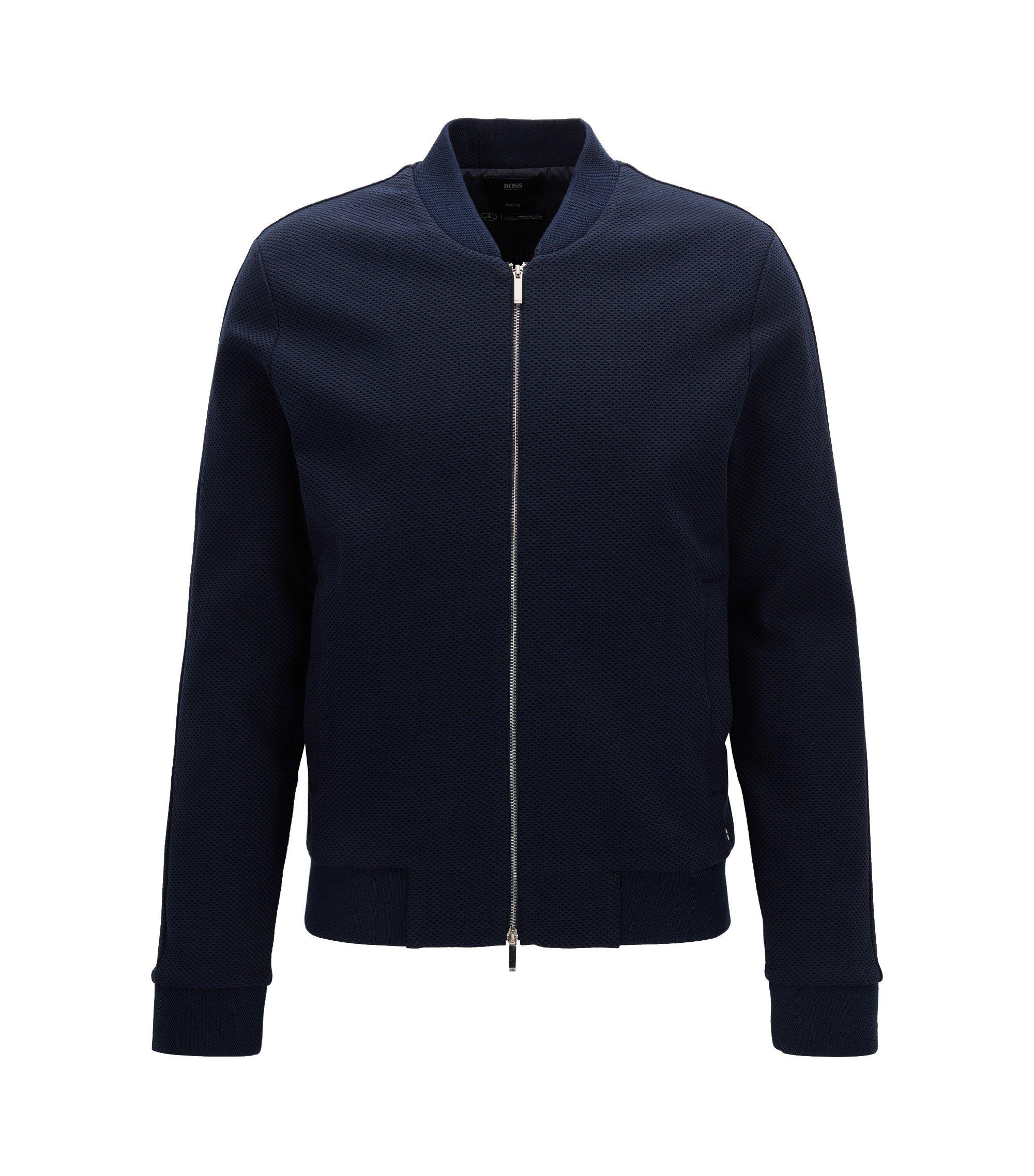 Slim-fit jas van katoen uit de Mercedes-Benz-collectie, Donkerblauw