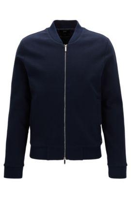 Slim-Fit Baumwoll-Jacke aus der Mercedes-Benz Kollektion, Dunkelblau