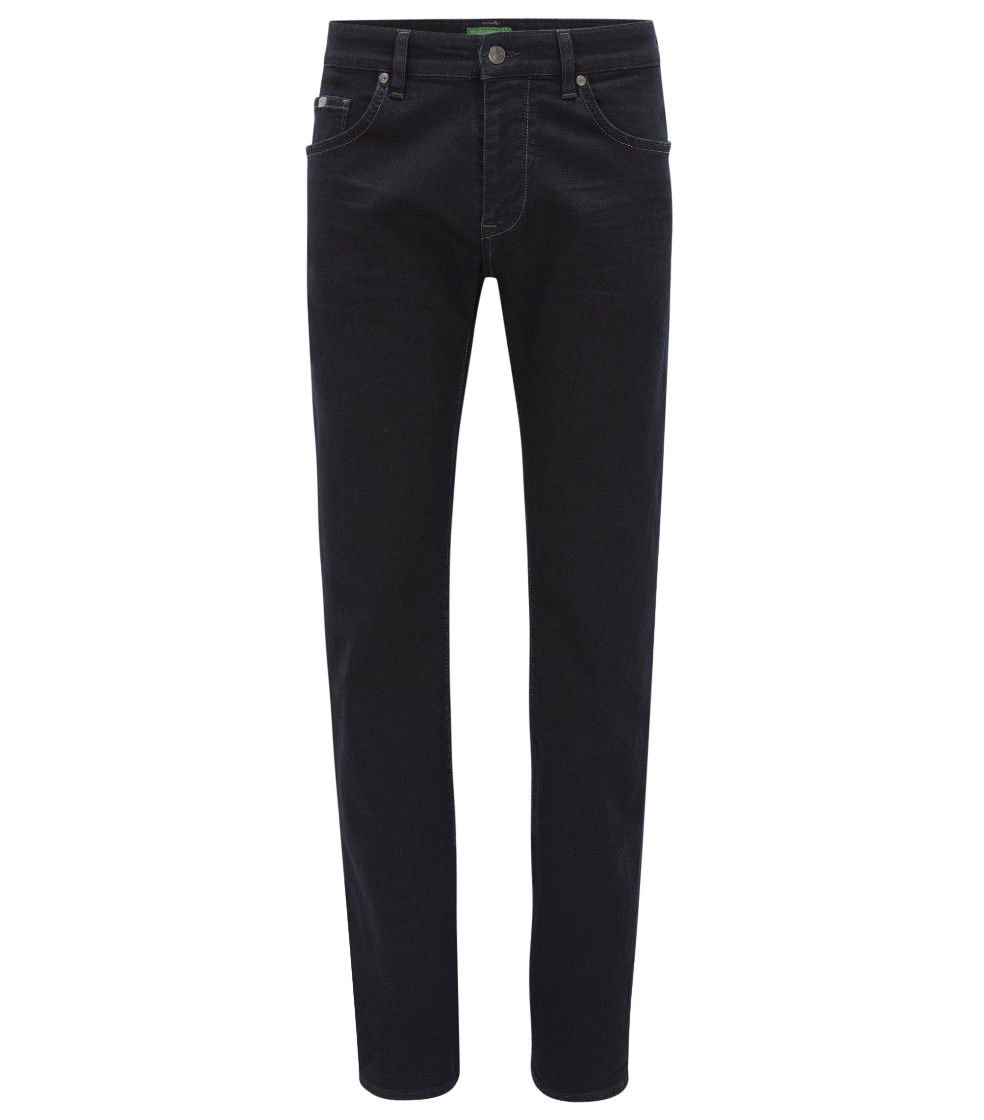 Regular-Fit Jeans aus elastischem Denim, Dunkelblau