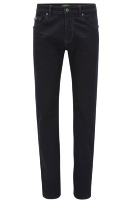 Regular-fit jeans in power-stretch denim, Dark Blue