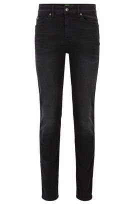 Jeans Slim Fit en denim super stretch, Noir