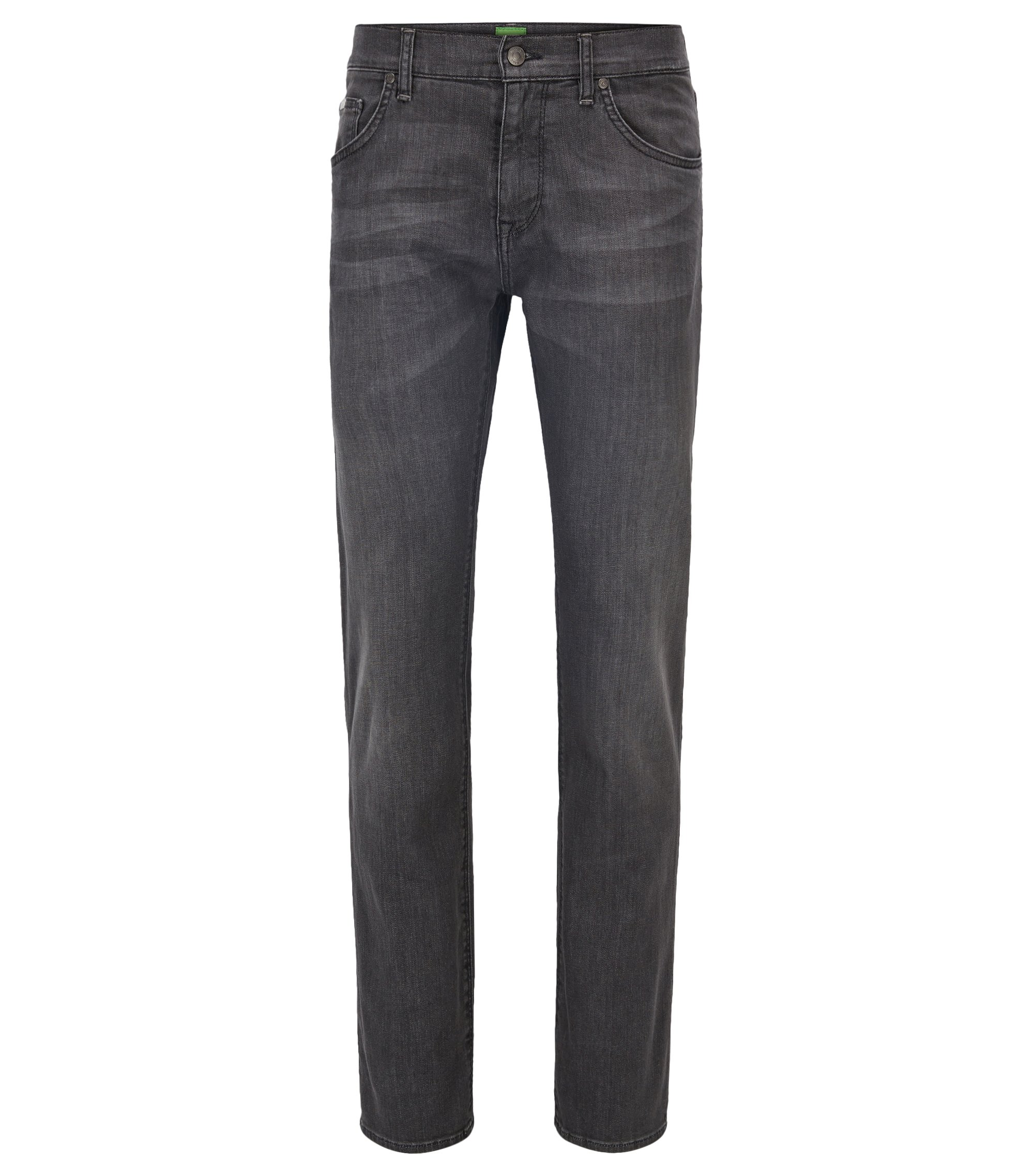 Jeans Regular Fit en denim stretch anthracite, Gris sombre