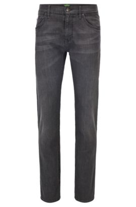 Regular-Fit Jeans aus Stretch-Denim, Dunkelgrau