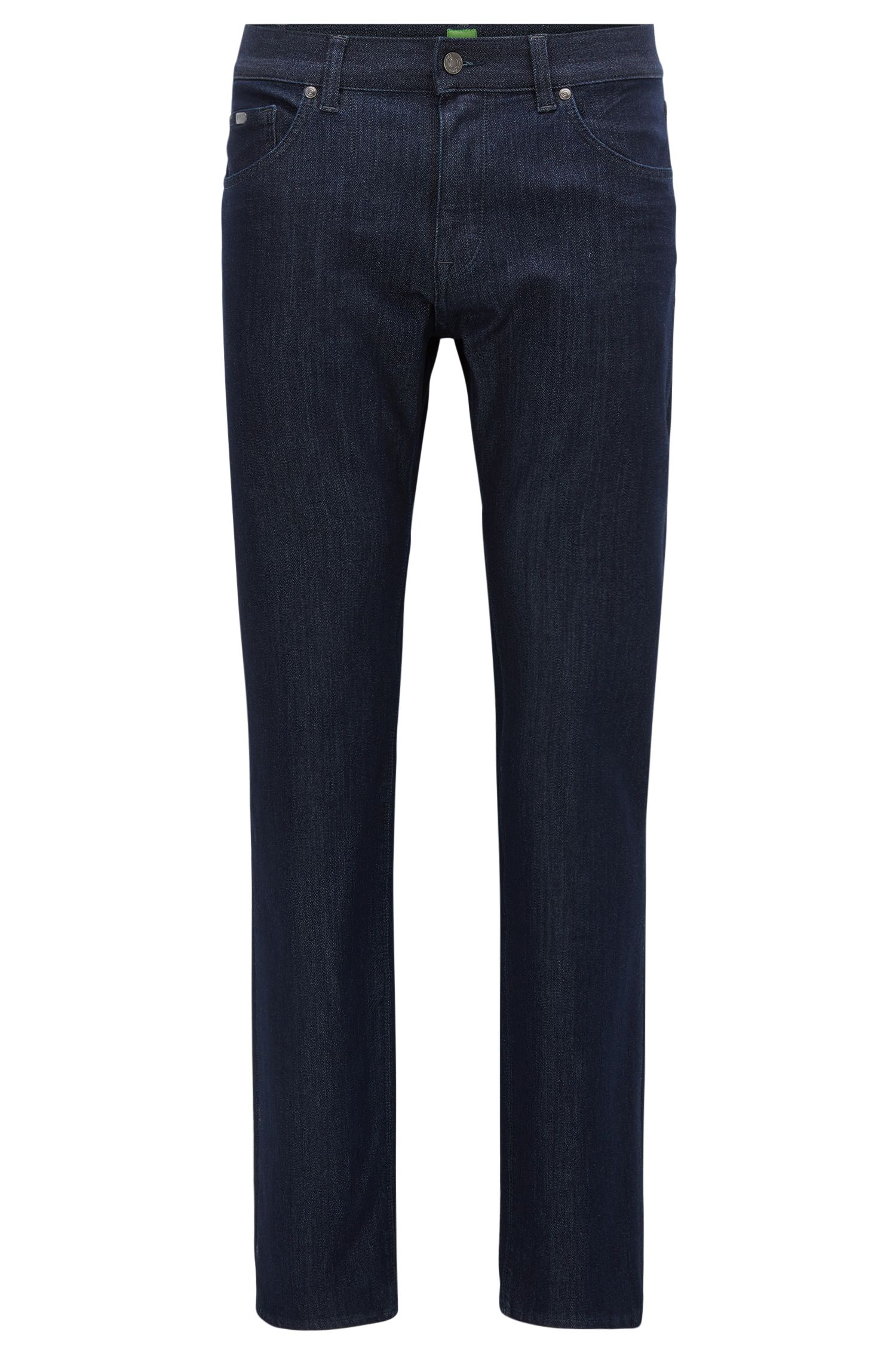 Regular-Fit Jeans aus gestricktem Baumwoll-Mix