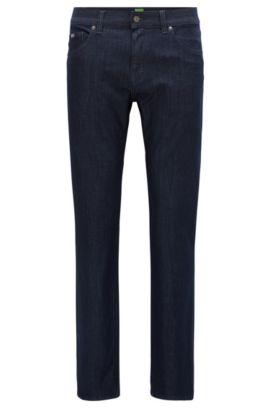 Regular-Fit Jeans aus gestricktem Baumwoll-Mix, Dunkelblau