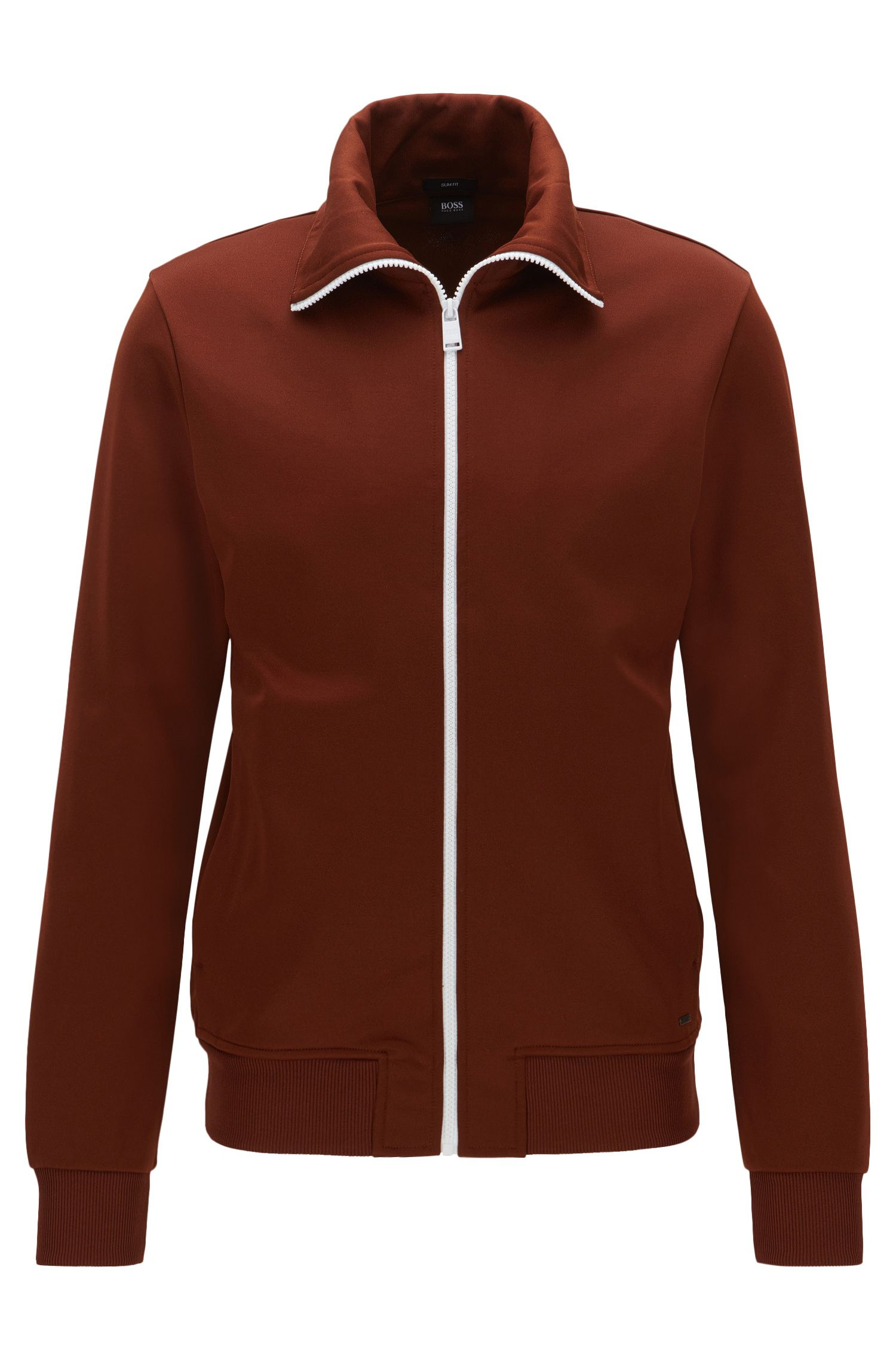 Slim-fit jacket in sporty fabric