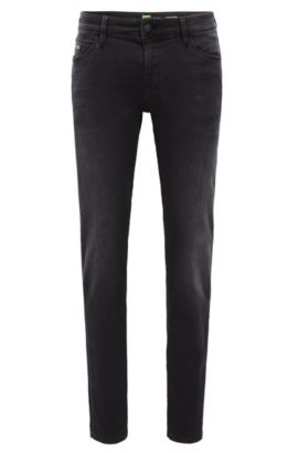 Extra Slim-Fit Jeans aus Super-Stretch-Denim, Schwarz