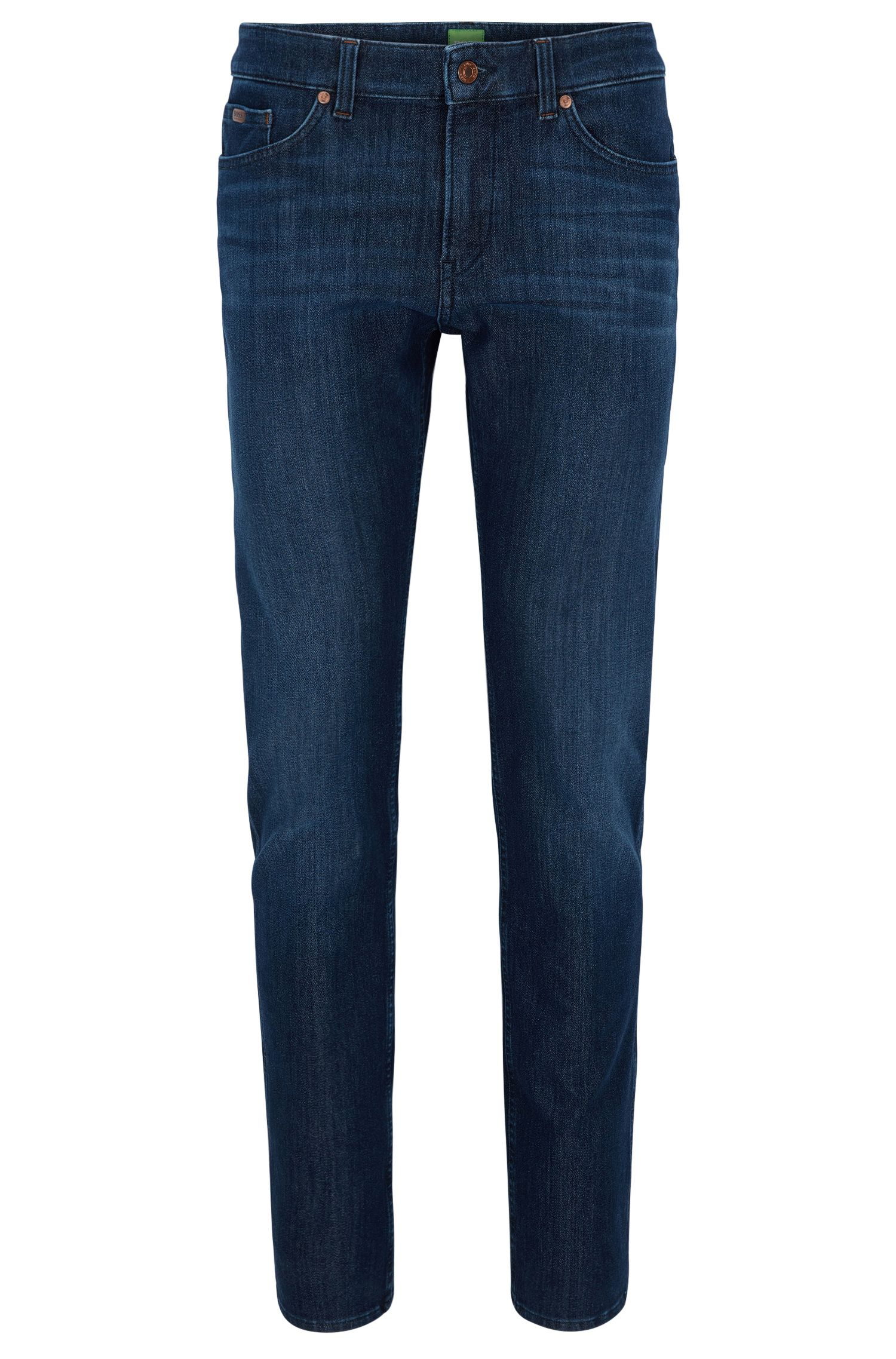 Jeans slim fit in denim elasticizzato color indaco