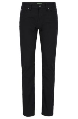 Slim-fit jeans in comfort-stretch denim, Nero