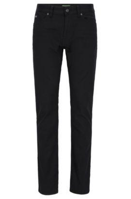 Slim-fit jeans in comfort-stretch denim, Black