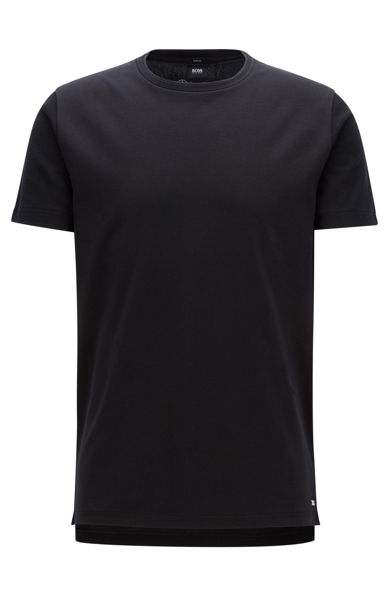 Slim-fit T-shirt van interlocked katoen, uit de Mercedes-Benz-collectie