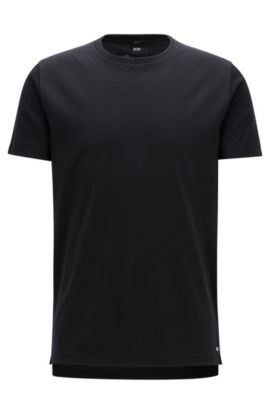 Slim-fit T-shirt van interlocked katoen, uit de Mercedes-Benz-collectie, Zwart