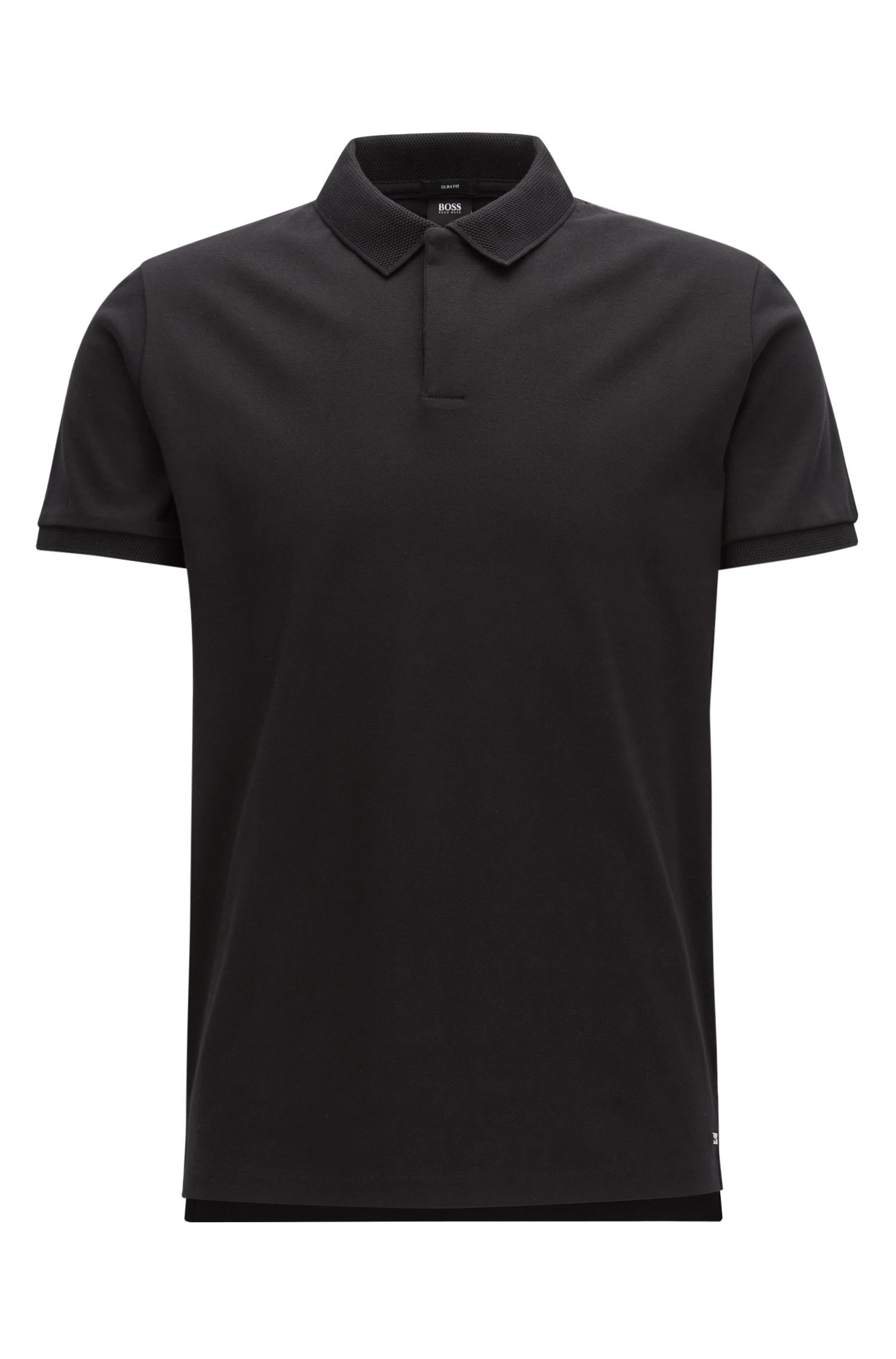 Slim-fit polo shirt in interlock cotton from the Mercedes-Benz Collection