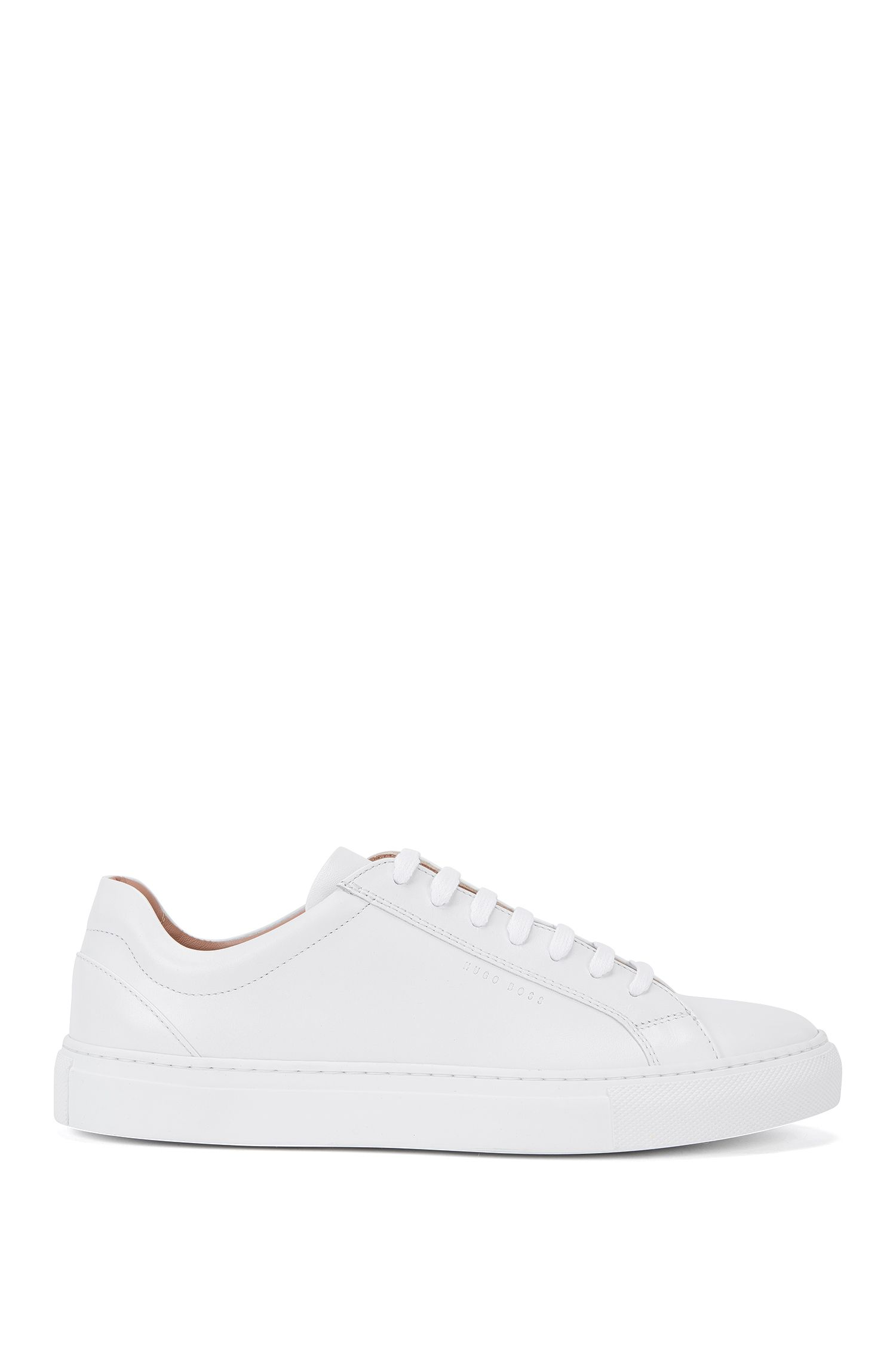 Plain-coloured leather trainers: 'Low Cut-C'